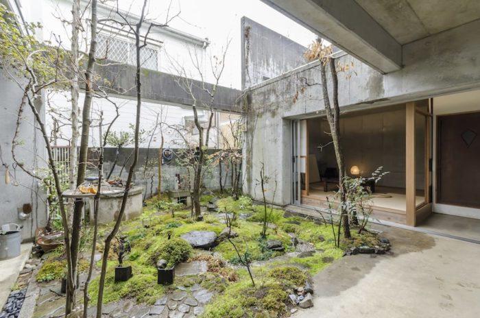 離れとしての和室は、夏の寝室にもなる。小上がりの和室は腰掛けるのにもちょうどよい。左手の井戸は昔からあったもの。