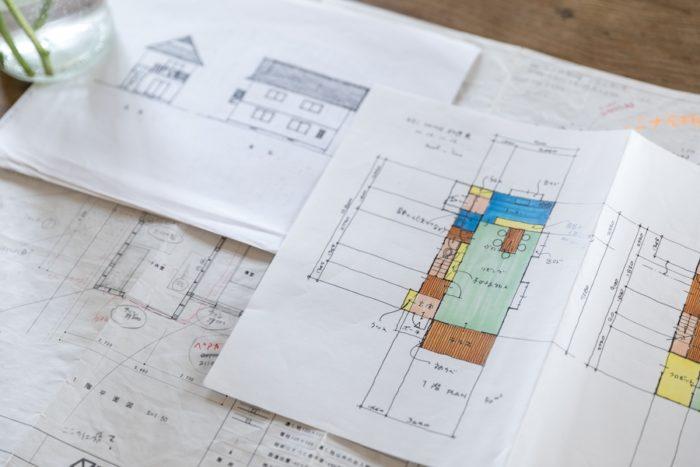 16年前、設計時にお父様が描いたA邸のプラン。