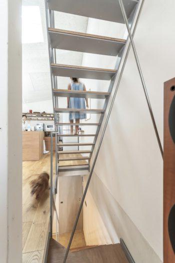階段部分。下が1階。