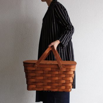 TWIN SPLIT PICNIC BASKET <L> W455 D300 H240mm ¥15,000 Peterboro Basket Company (The Tastemakers & Co.)