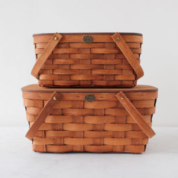 上:BASIC BASKET for TWO  W350 D230 H150mm ¥12,000 Peterboro Basket Company (The Tastemakers & Co.)