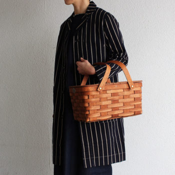 TWIN SPLIT PICNIC BASKET <M> CUSTOM PAINTING TYPE C (The Tastemakers & Co.サイズ別注) W350 D230 H150mm ¥17,800