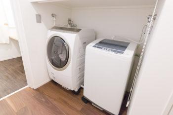 人間用と犬用を分けて洗濯するため、最初から洗濯機2つ分のスペースをリクエストした。