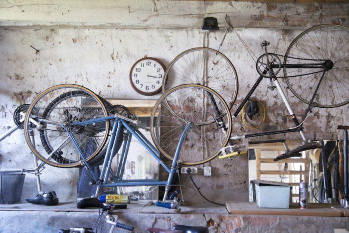 サイクリングも大好きで、インゴさんは自転車コレクターでもある。
