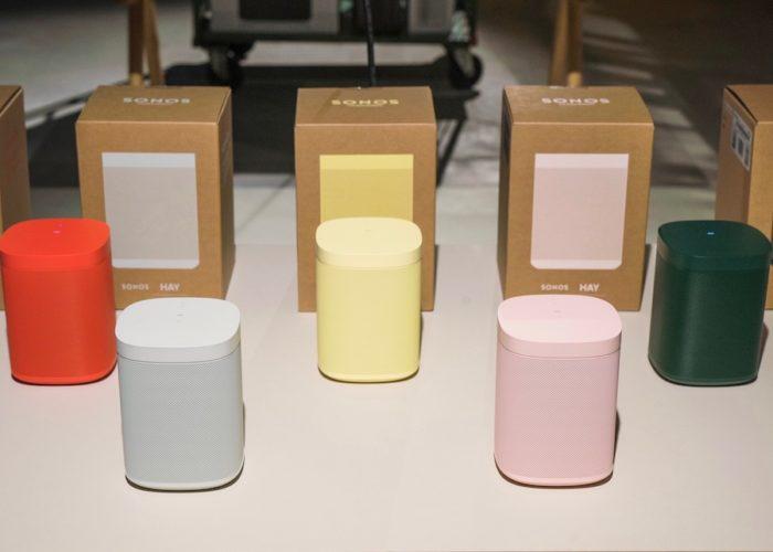 Hay Sonos One Limited Editionは、バイブラントレッド・ライトグレー・ペールイエロー・ソフトピンク・フォレストグリーンの5色展開。