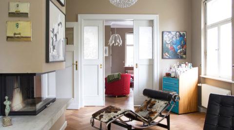 ベルリン、建築家の家オーセンティックに遊び心をそれぞれの部屋に個性を
