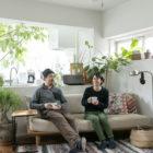 店舗と住宅一体の都心でも光と緑あふれる温かい空間を