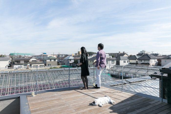 隣が生産緑地になっているので高い建物に遮られることなく、見晴らしがいい。富士山も見える。