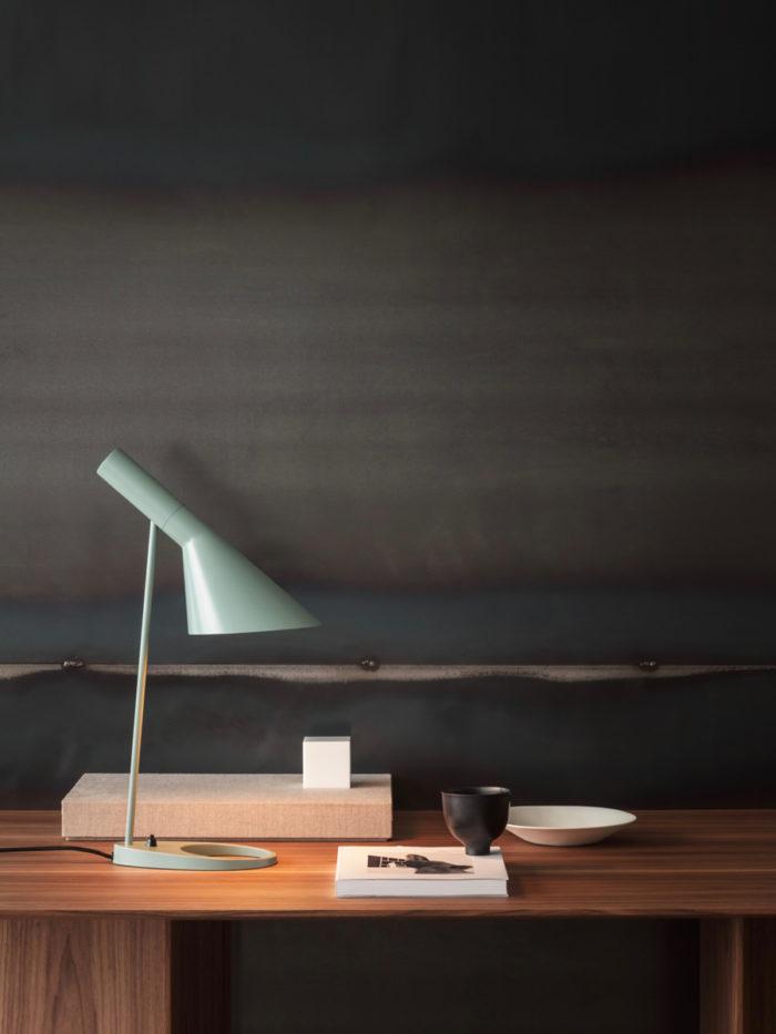 アルネ・ヤコブセンがコペンハーゲンのSASロイヤルホテルのためにデザインしたAJシリーズ。