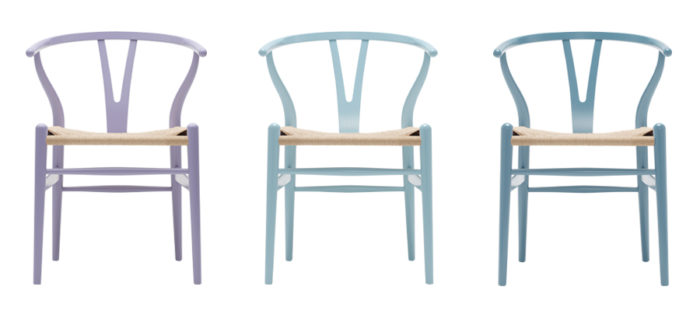 CH24 COLORS  ( Light Purple・Light Blue・Steel Blue� ) W550 D510 760 SH450mm 各¥97,000〜 カール・ハンセン&サン フラッグシップ・ストア東京