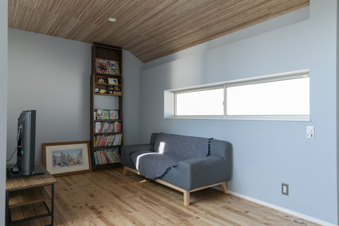 2階フリースペース。将来は区切って個室にすることもできる。