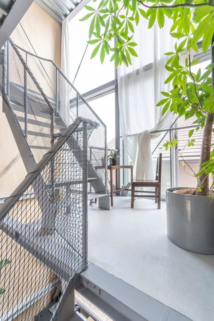 寝室と同じ2階レベルにある踊り場スペース。