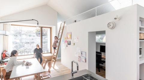 白いキャンバスにモノを置いていく機能と素材を重視・追求してつくった家