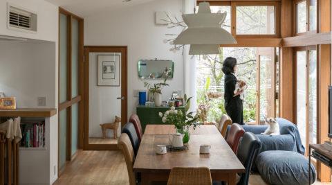 光と緑を感じて暮らしになじむ心地よさと新しい挑戦を楽しむ20年目の家