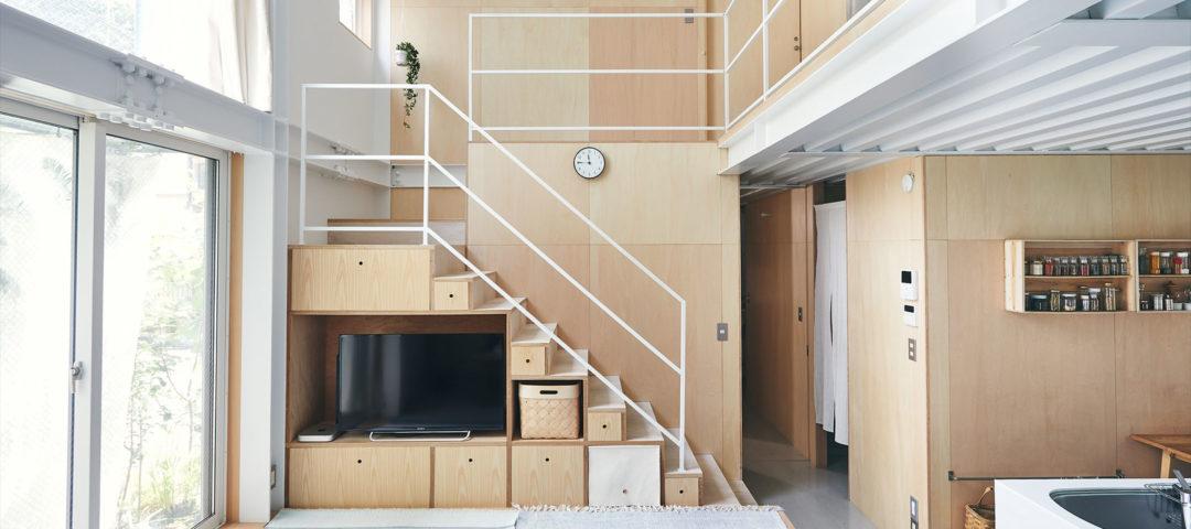 撮影スタジオのある白い箱  無機と有機の心地よい空間に 必要スペックを詰め込んで