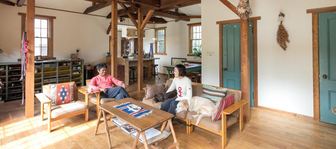 自宅の庭がドッグラン カリフォルニアスタイルの 平屋リノベーション