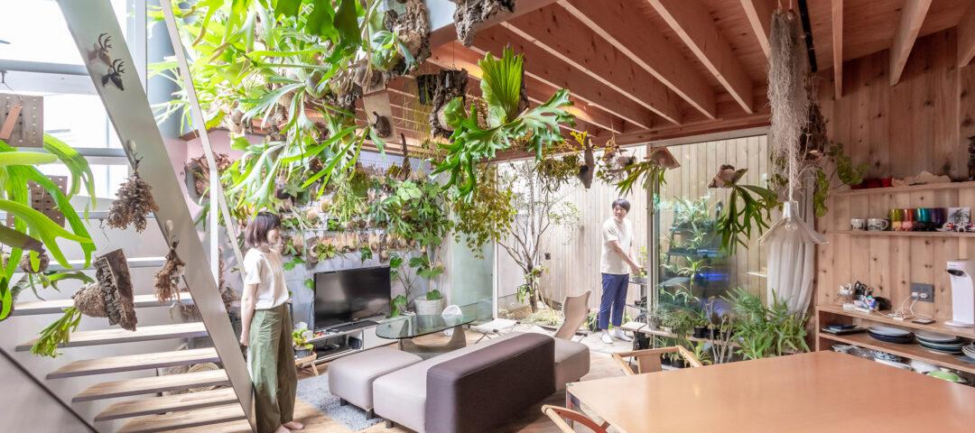 多くの緑とともに暮らす飽きの来ない家 ゆるやかにつながる空間と 大きな開口でのびのびと暮らす