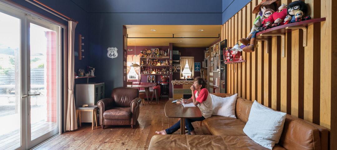 透明水彩画家のアトリエ兼住居 アメリカ好きの夫婦が目指す 理想の空間