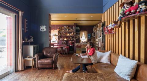 透明水彩画家のアトリエ兼住居 アメリカ好きの夫婦が目指す理想の空間
